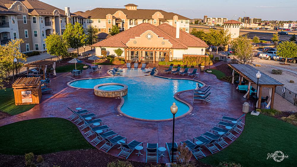 Sunset Lodge pool view